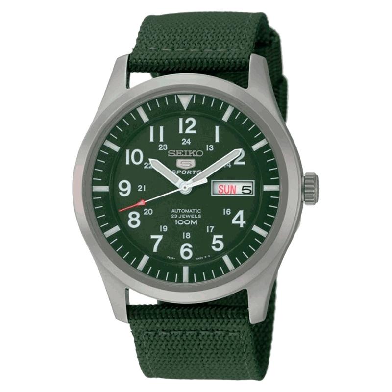 """Reloj seiko """"5 Sports"""" automático de hombre verde SNZG09K1"""