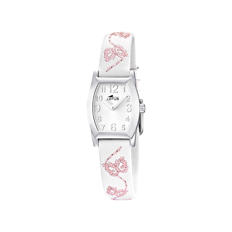 "Reloj Lotus de niña ""Junior"" con correa piel blanca ref. 15710/1"