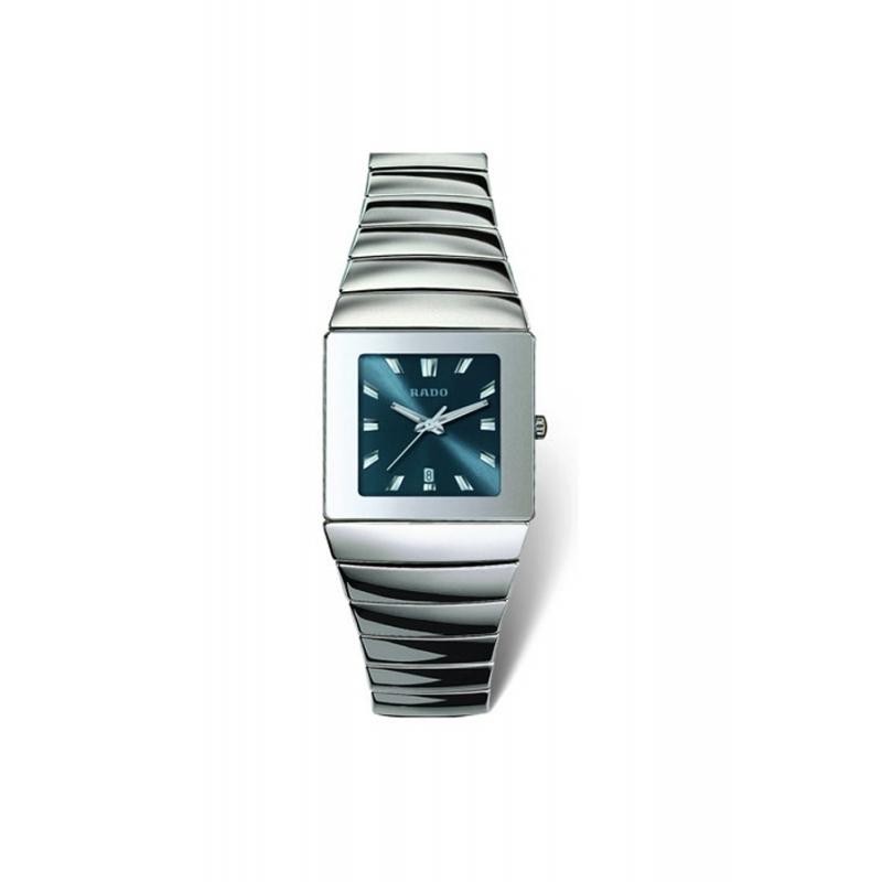 """Reloj Rado """"Sintra"""" para hombre en cerámica gris esfera azul R1343212"""