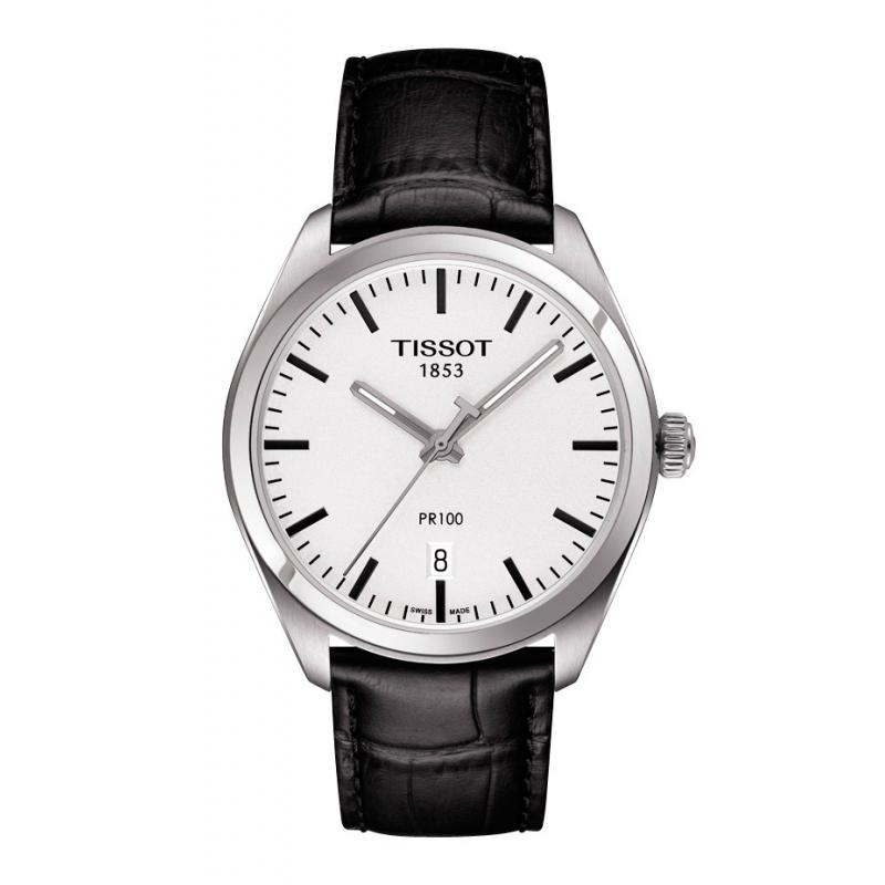 Reloj Tissot PR 100 de hombre con caja acero y correa piel T1014101603100