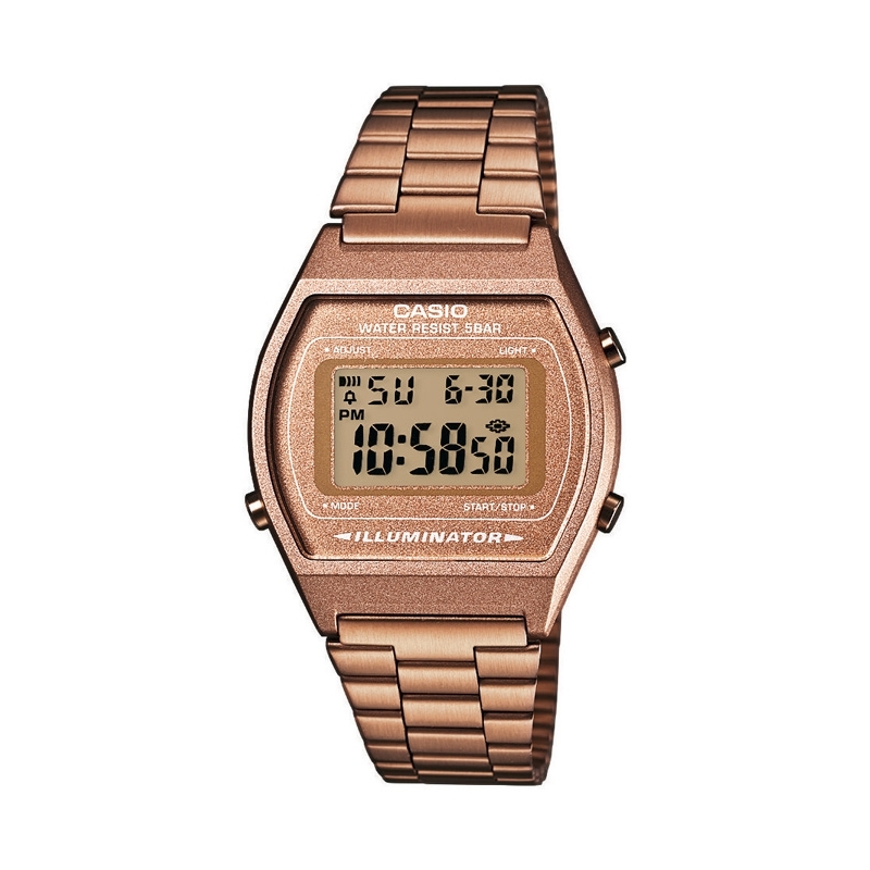 Reloj Casio Retro Collection, digital chapado en marrón B640WC-5AEF