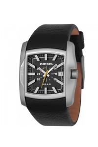 Reloj Diesel de hombre, rectangular con correa piel negra ref. DZ1178