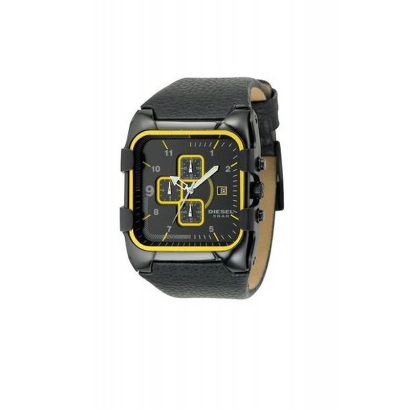 Reloj Diesel de hombre, con cronógrafo y correa piel negra ref. DZ4147