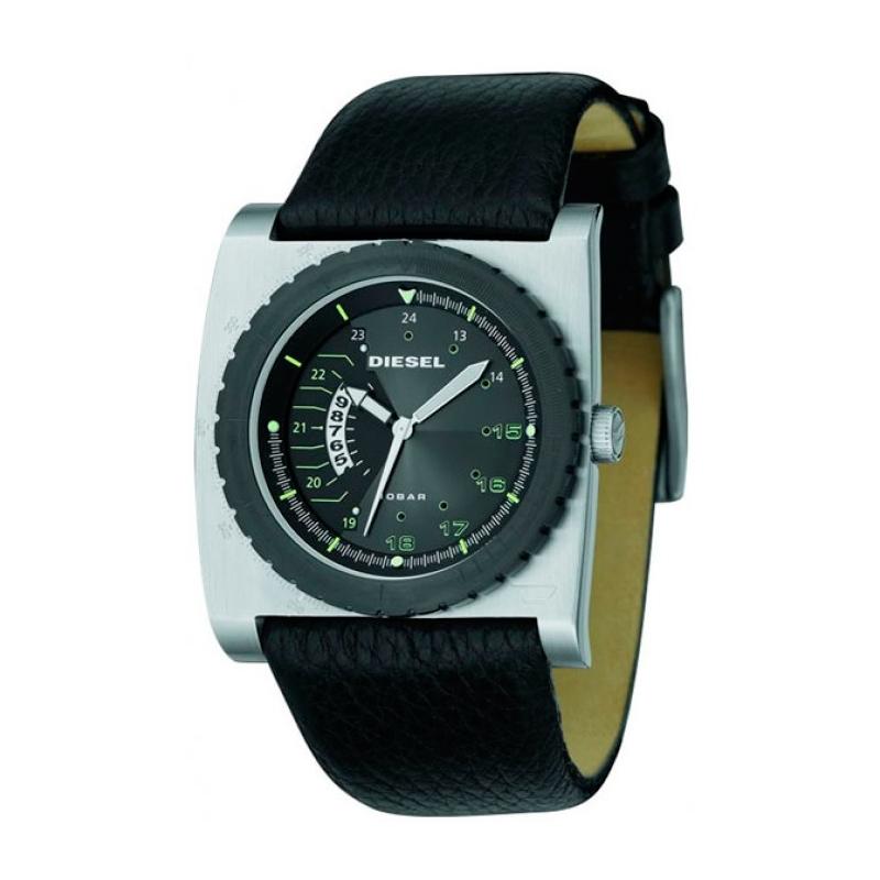 Reloj Diesel de hombre rectangular con correa piel DZ1159