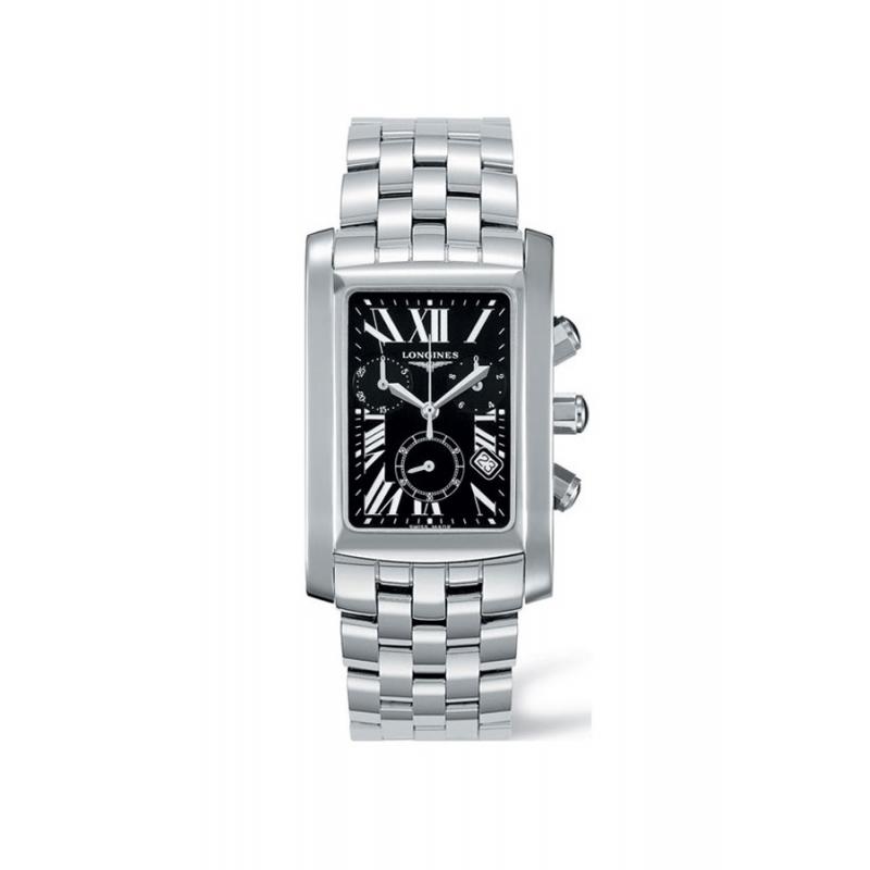 "Reloj Longines ""Dolce Vita"" de hombre en acero con cronógrafo L56804796"