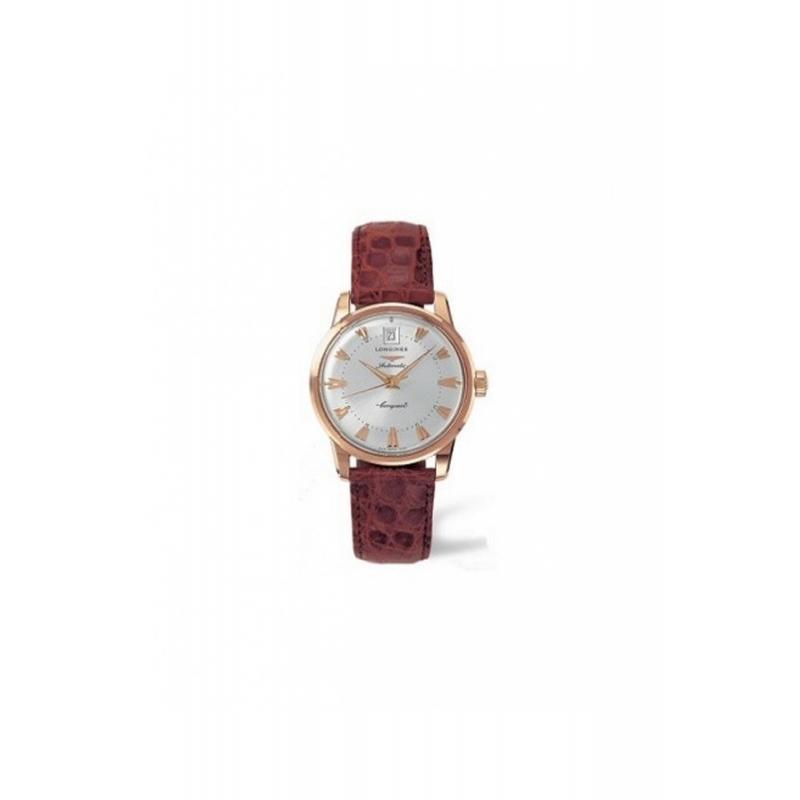 """Reloj Longines """"Conquest Heritage"""" automático de hombre en oro y piel L16116782"""