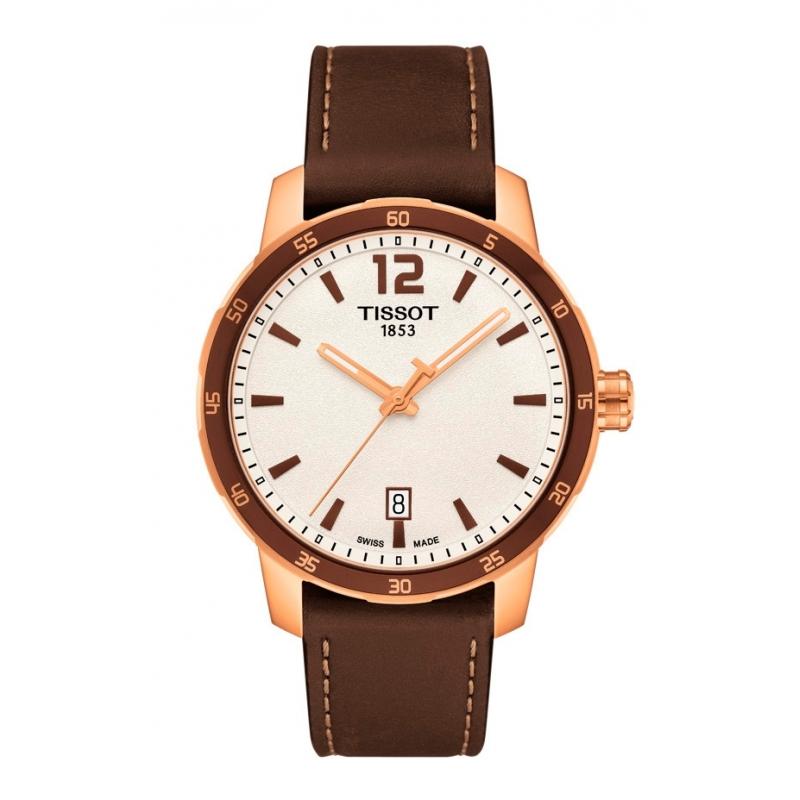 Reloj Tissot Quickster con caja acero dorado oro rojo T0954103603700