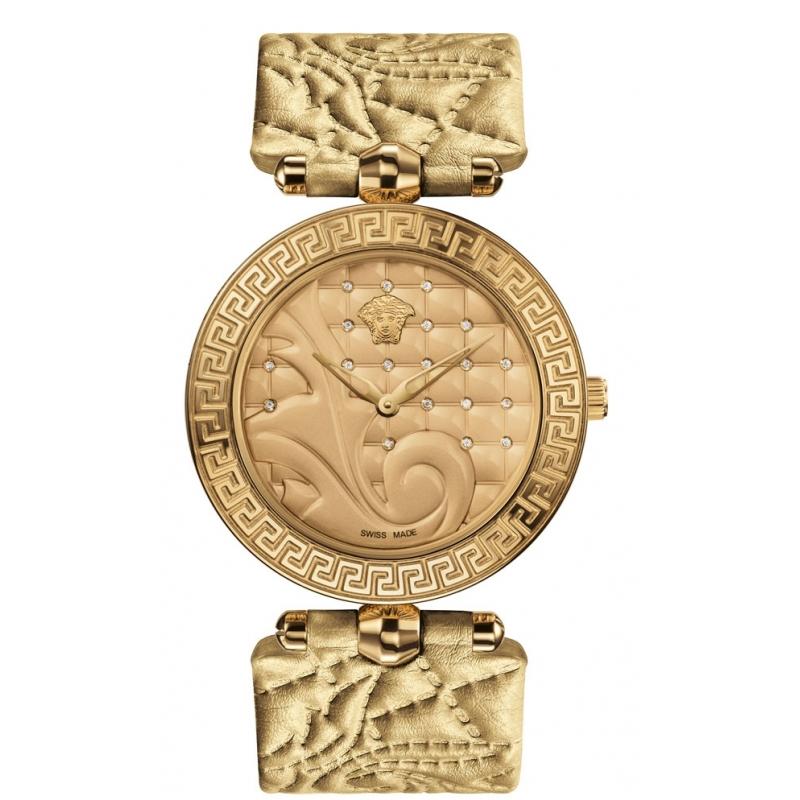 """Reloj Versace""""Vanitas"""" de mujer dorado con diamantes en esfera VK719 0014"""