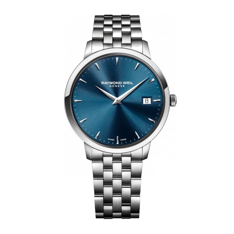 """Reloj Raymond Weil """"Toccata"""" de hombre acero con esfera azul 5588-ST-50001"""