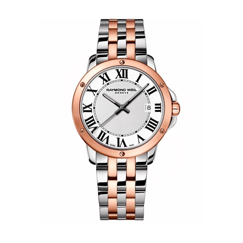 "Reloj Raymond Weil de hombre ""Tango"" en acero parcialmente dorado oro rosa 5591-SP5-00300"