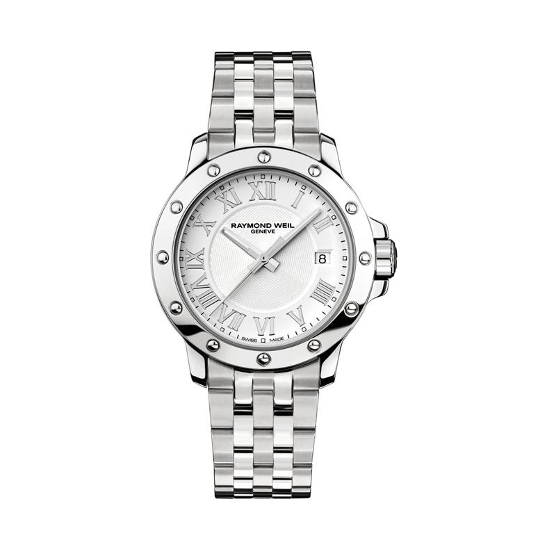 """Reloj Raymond Weil de hombre """"Tango"""" en acero, de estilo clásico 5599-ST-00308"""