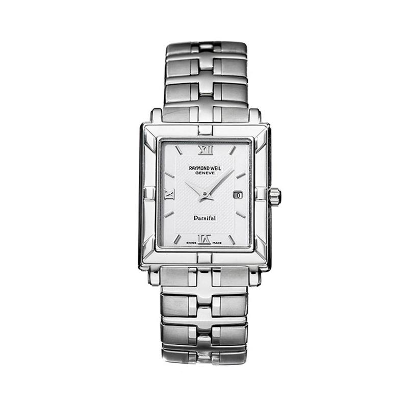 """Reloj Raymond Weil de hombre """"Parsifal"""" en acero con caja cuadrada 9331-ST-00307"""