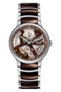 """Reloj Rado Centrix automático de hombre tipo """"Skeleton"""" en cerámica marrón y acero R30179302."""