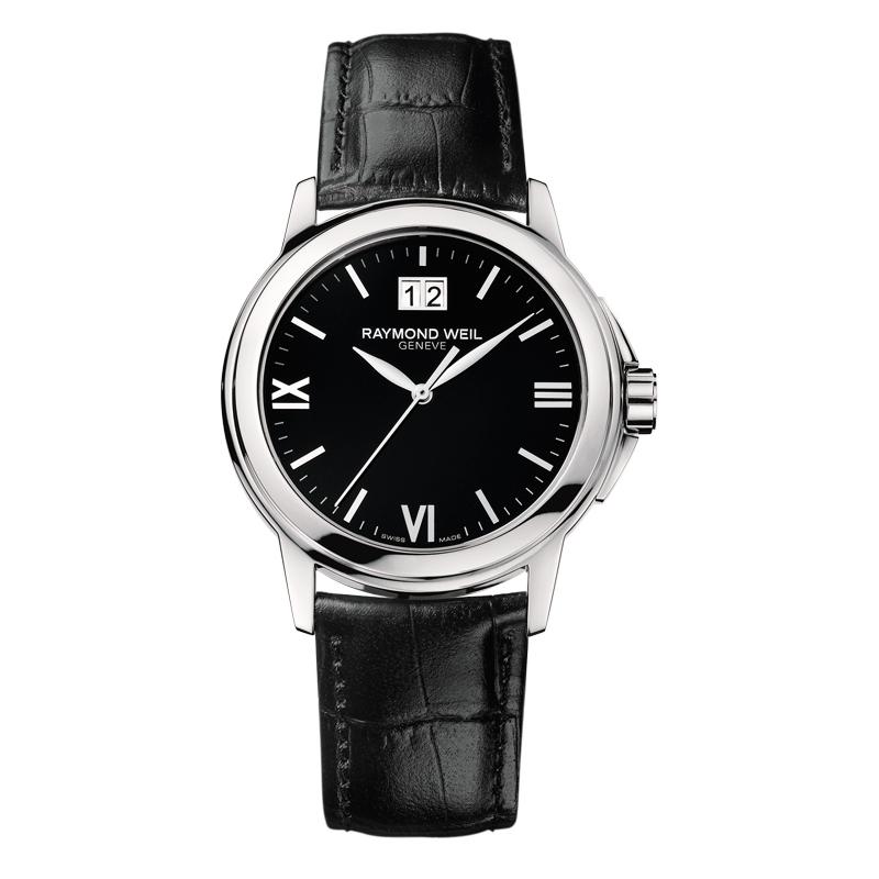 """Reloj Raymond Weil de hombre """"Tradition"""" en negro, de estilo clásico 5576-ST-00207"""