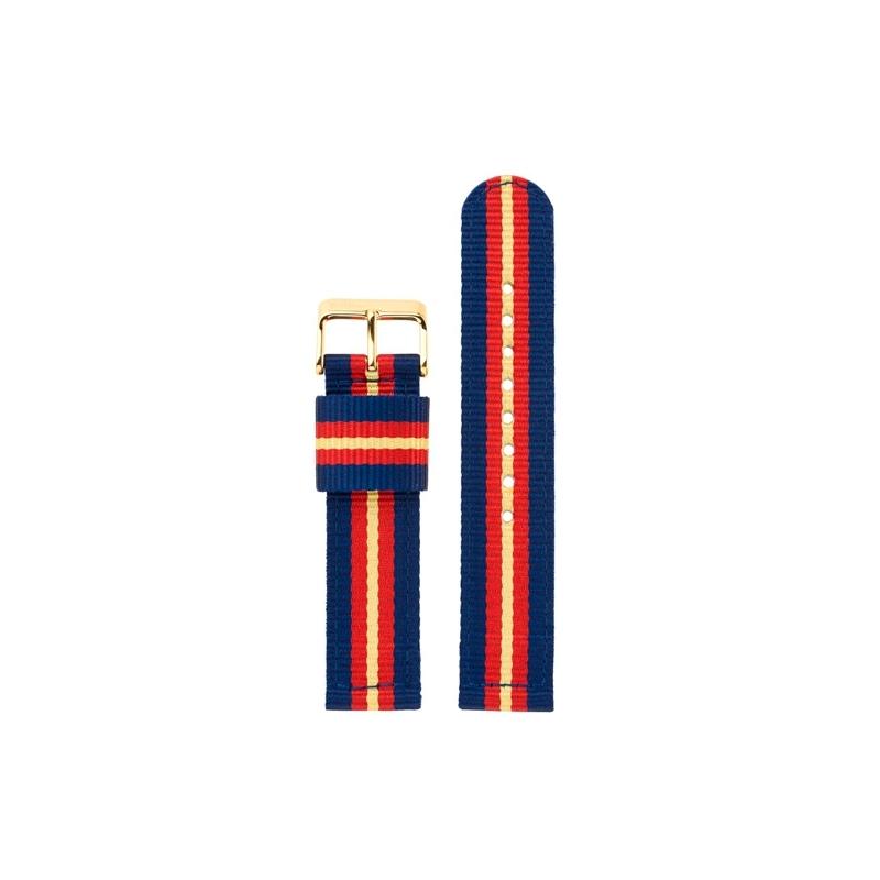 """Correa para relojes Balber """"Leisure Lawford"""", de nylon en azul, roja y amarilla."""
