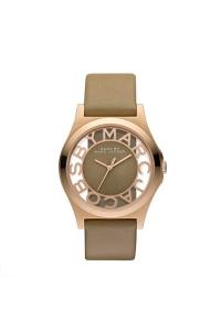 """Reloj Marc by Marc Jacobs de mujer """"Henry Skeleton"""", dorado con correa de piel MBM1245"""
