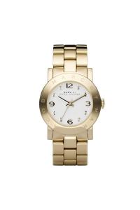 """Reloj Marc by Marc Jacobs de mujer """"Amy"""" en acero dorado en oro amarillo y circonitas MBM3056."""