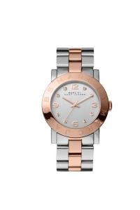 """Reloj Marc by Marc Jacobs de mujer """"Amy"""" en acero parcialmente dorado en oro rosa y circonitas MBM3194."""