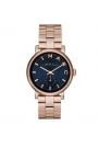 """Reloj Marc by Marc Jacobs de mujer """"Baker"""" dorado en oro rosa y esfera azul MBM3330"""