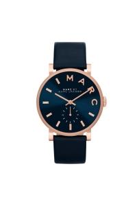 """Reloj Marc by Marc Jacobs de mujer """"Baker"""" con caja dorada y esfera/correa azul MBM1329"""
