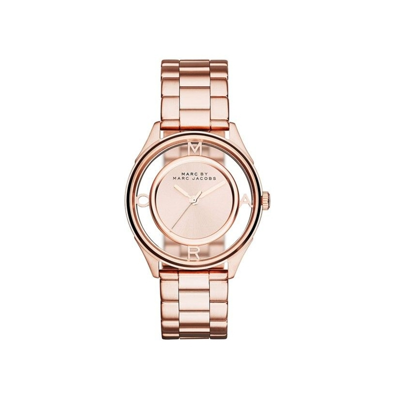 """Reloj Marc by Marc Jacobs de mujer """"Tether Skeleton"""" en acero dorado en oro rosa MBM3414"""