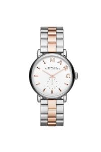 """Reloj Marc by Marc Jacobs de mujer """"Baker"""" de acero parcialmente dorado en oro rosa MBM3312"""