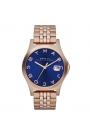 """Reloj Marc by Marc Jacobs de mujer """"Slim"""", dorado en oro rosa y esfera azul MBM3316"""