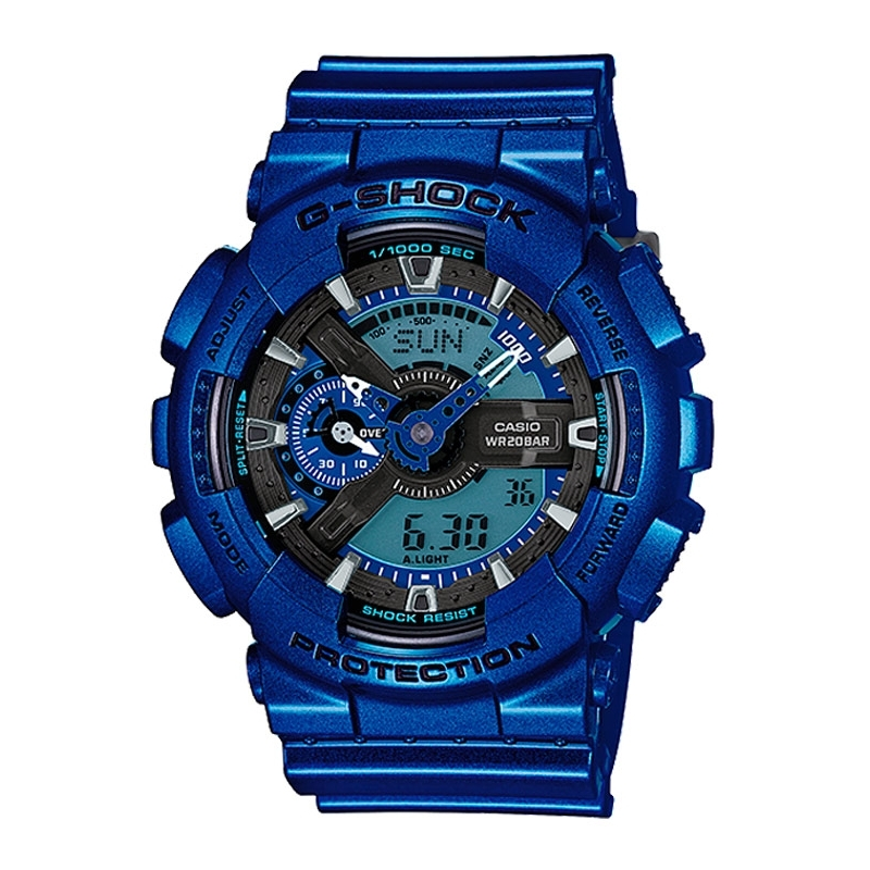 Reloj Casio G-shock Classic antimagnético digital de hombre en color azul GA-110NM-2AER