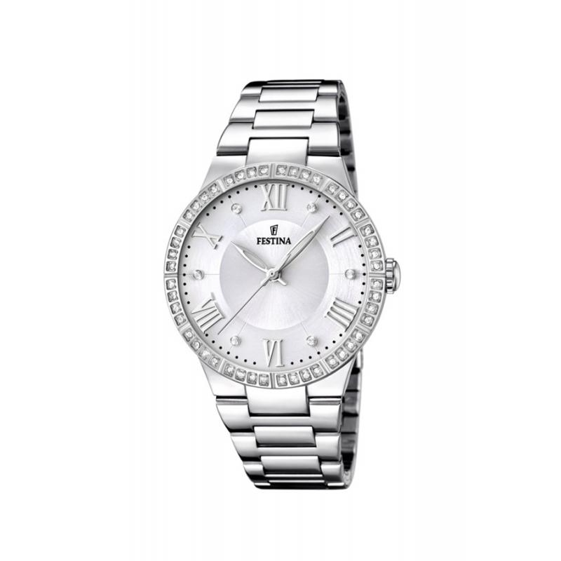 """Reloj Festina de mujer """"Mademoiselle"""" en acero con circonitas F16719/1"""