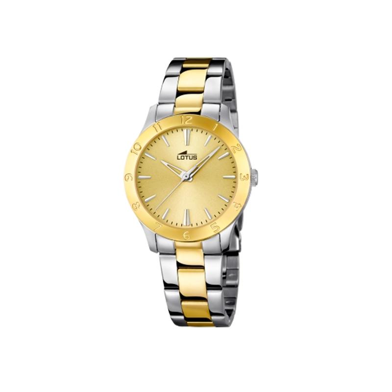 """Reloj Lotus de mujer """"Trendy"""" de acero parcialmente dorado oro amarillo 18139/1"""