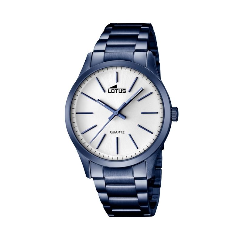 """Reloj Lotus de hombre """"Smart Casual"""" de acero chapado en azul oscuro 18163/1"""