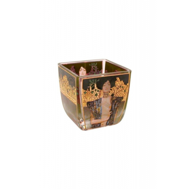 "Portavela de cristal ""Judith"" cuadro de Gustav Klimt, de Goebel"