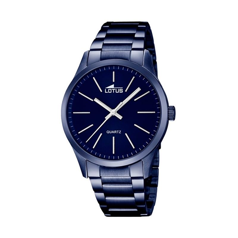 """Reloj Lotus de hombre """"Smart Casual"""" en acero chapado azul 18163/3"""