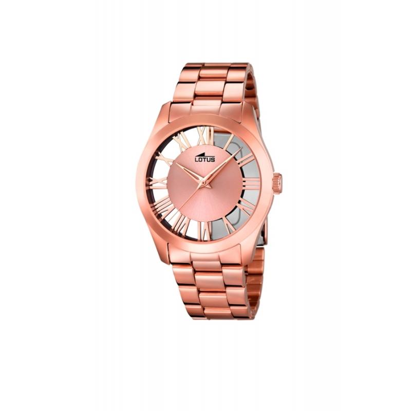 """Reloj Lotus de mujer """"Trendy"""" de acero chapado en oro rosa, 18124/1"""