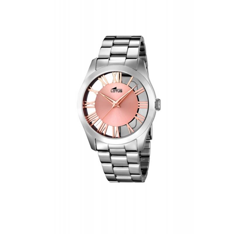 """Reloj Lotus de mujer """"Trendy"""" en acero con esfera dorada en oro rosa 18122/1"""