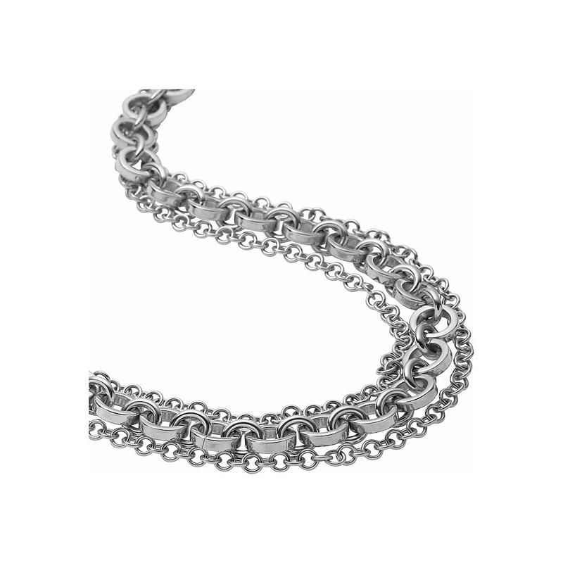 Collar de acero de eslabones grandes con 3 hilos, de DKNY.