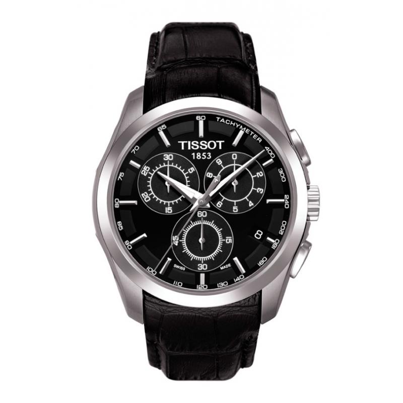 """Reloj Tissot de hombre """"Couturier"""" con cronógrafo con correa/esfera negra T0356171605100"""