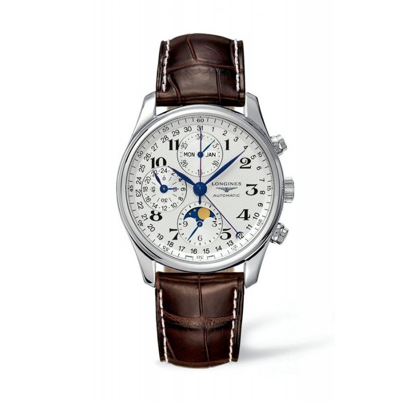 """Reloj Longines """"Master Collection"""" automático de hombre, con cronógrafo y fase lunar L27734783"""