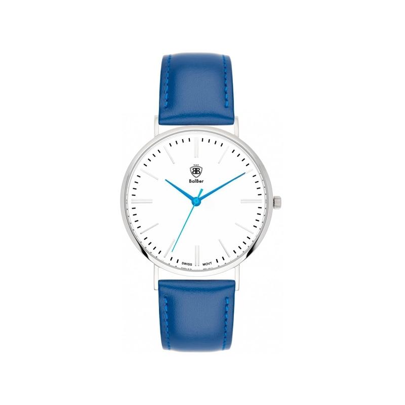 """Reloj Balber hombre/mujer """"Original Bloom"""" esfera blanca y correa azul"""