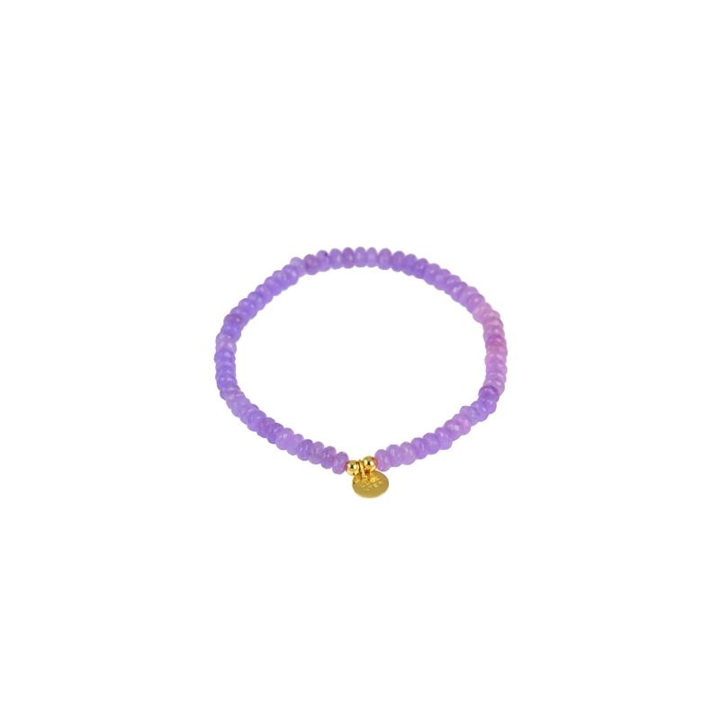 """Pulsera de amatistas con detalle en plata dorada, """"Happy Gems"""" de Luxenter."""