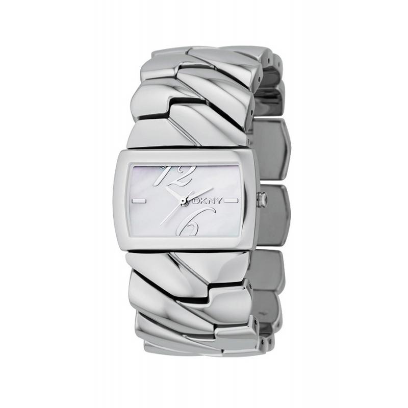 Reloj ancho DKNY de mujer en acero con esfera de nácar dd4830f1ccd7