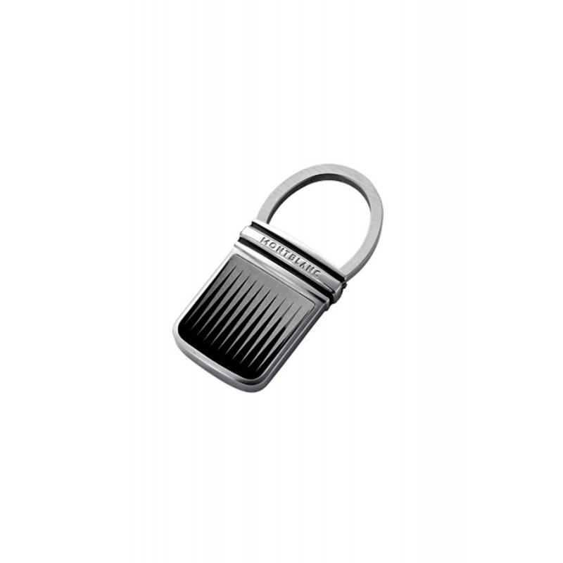 Llavero Montblanc Classic en acero blanco y negro, para hombre, ref. 102987