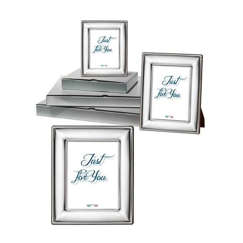 """Conjunto de 3 marcos de fotos en plata bilaminada lisa """"Liscia"""" de Italsilver"""