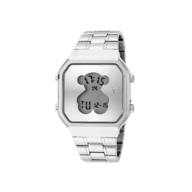"""Reloj Tous digital de mujer """"D-Bear"""" en acero 600350275"""