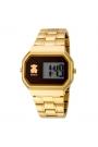 """Reloj Tous de mujer """"D-Bear"""" digital, dorado en oro amarillo, de estilo retro 600350300"""