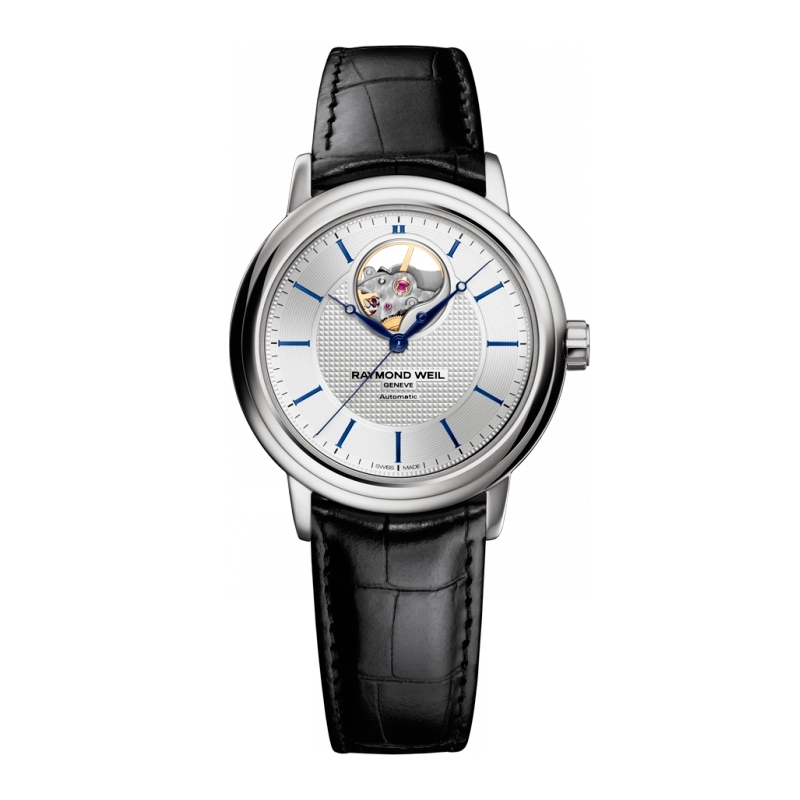 """Reloj Raymond Weil automático de hombre """"Maestro"""" con correa de piel negra 2827-STC-65001"""