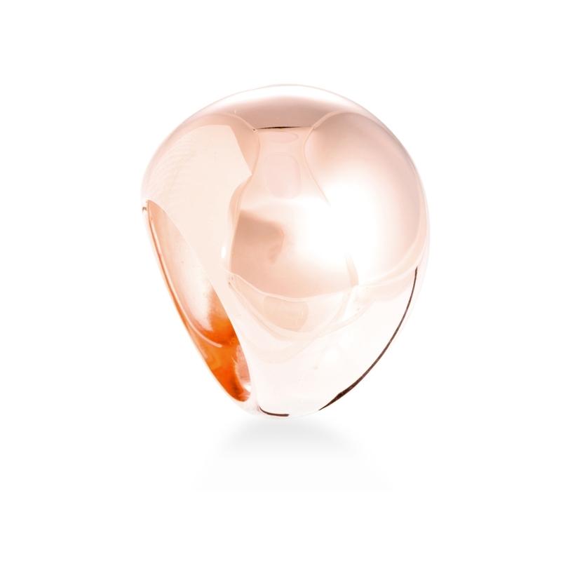 """Anillo ancho de plata dorada en oro rosa, """"Sheyda"""" de Luxenter."""