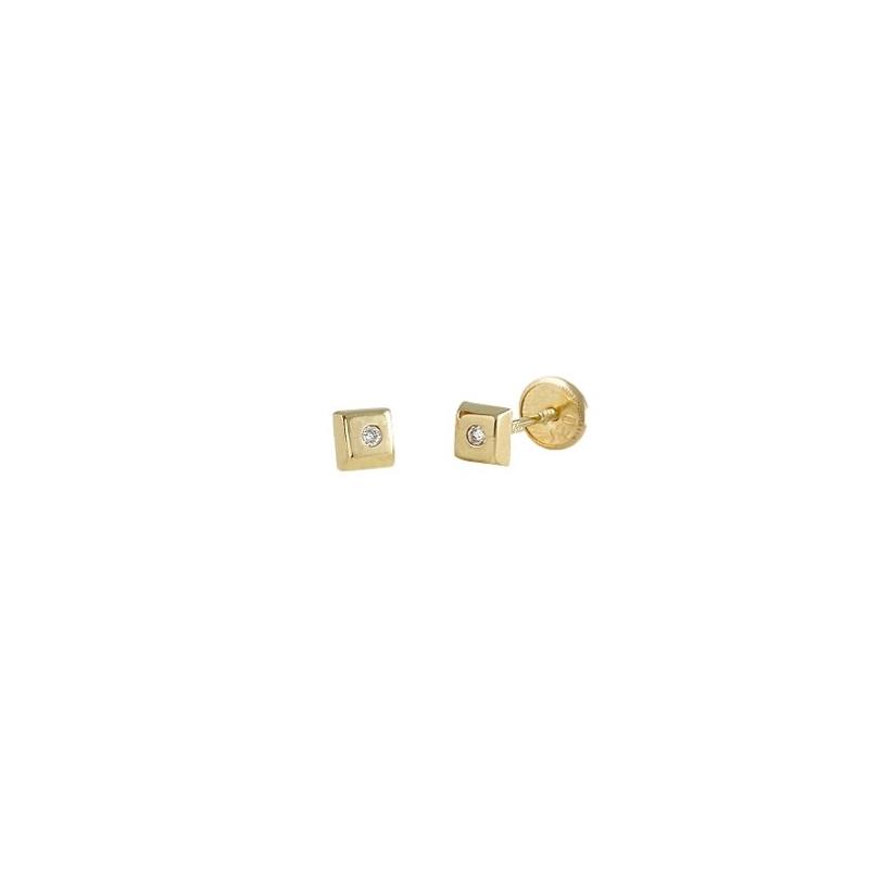 Pendientes de oro para niña