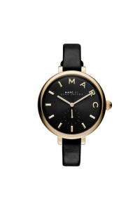"""Reloj Marc by Marc Jacobs de mujer """"Sally"""" dorado con correa piel negra MJ1416"""