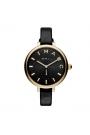 """Reloj Marc by Marc Jacobs de mujer """"Sally"""" dorado con correa piel negra MJ1416."""